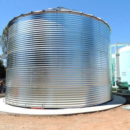 Steel Core Galvanized Water Storage Tank - 2 Stfnrs - J Rib 10 Degree Roof-0