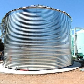 Steel Core Galvanized Water Storage Tank With 30 Degree Flat Panel Roof-0