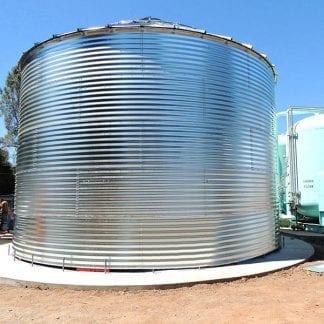 Steel Core Galvanized Water Storage Tank - 2 Stfnrs - J Rib 30 Degree Roof-0