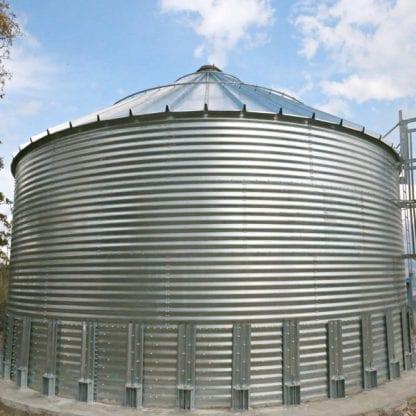 Steel Core Galvanized Water Storage Tank - 2 Stfnrs - J Rib 10 Degree Roof-943