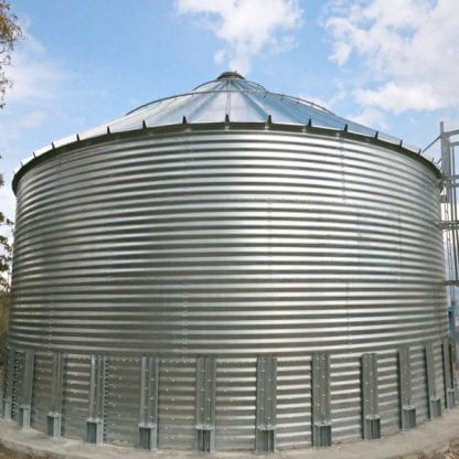 Steel Core Galvanized Water Storage Tank With 30 Degree Flat Panel Roof-697
