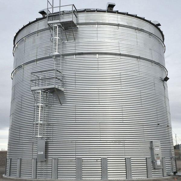 Steel Core Galvanized Water Storage Tank - 2 Stfnrs - J Rib 10 Degree Roof-642