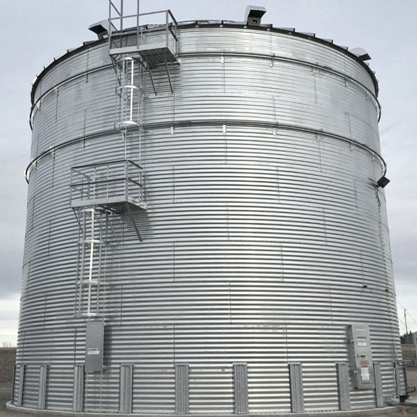 Steel Core Galvanized Water Storage Tank With 10 Degree Roof-615