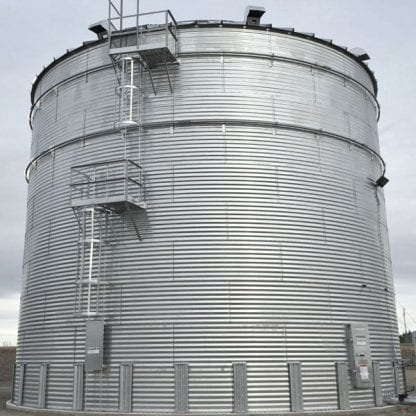 Steel Core Galvanized Water Storage Tank With 30 Degree Flat Panel Roof-696