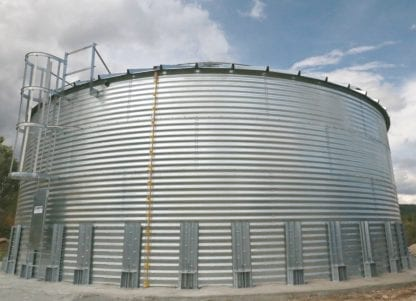 28000 Gallon Galvanized Water Storage Tank